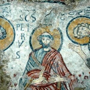 sei-su-immagine-raffigurante-san-pietro-benedicente-nella-cripta-del-peccato-originale